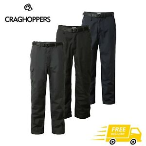 Mens Craghoppers Kiwi Winter Fleece Lined Walking Trousers With Belt RRP £70