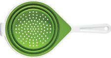 Chef'n SleekStor Medium Collapsible Colander (8-Inch, Arugula/Meringue),Silicone