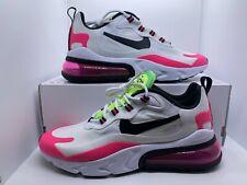 Nike Air Max 270 React *WOMEN* White/Pink/Black **CJ0619-101** **SIZE 9**  *NIB*
