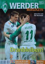 Programm 2006/07 SV Werder Bremen - Alemannia Aachen