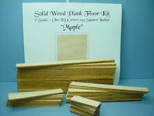 Dollhouse Miniature Plank Flooring Kit (144 Sq Inches) Maple Wood 1/12th Scale