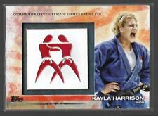 RARE 2012 TOPPS OLYMPIC KAYLA HARRISON EVENT PIN CARD #ELP-KHA ~ USA JUDO ~ UFC