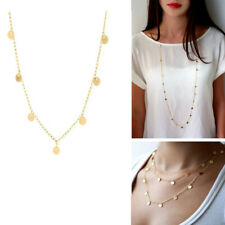 Trendy Statement Women Necklace Personality Jewelry Long Sequins Chain Necklace
