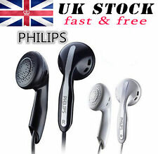 Philips SHE3800 Ligero En Oreja Auriculares gomosa Extra Bass Negro Alta Calidad