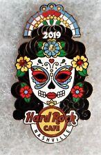 HARD ROCK CAFE NASHVILLE DAY OF THE DEAD SUGAR SKULL WOMAN PIN # 512322