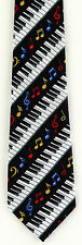 New Piano Keyboard Notes Mens Necktie Musical Instrument Keys Key Music Neck Tie
