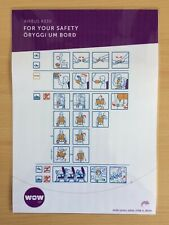 WOW air (Iceland) Airbus A330-300 Safety Card
