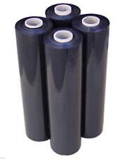 80 Gauge 4 Rolls Black Shrink Wrap Stretch Film 18 X 1000 Total 4000 Ft