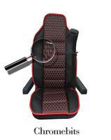 Black Pu Leather & Premium Fabric Luxury Seat Cover For Volvo Fh12 Fh16 Fl Fm