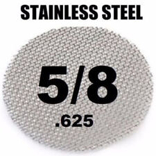 "100 Piece Silver 5/8"" 0.625"" Stainless Steel Tobacco Smoking Pipe Screens"