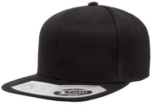 Flexfit® One Ten Flat Bill Snapback - Adjustable Hat + Flex Fit Tech 110F 110FT
