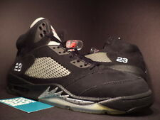 2011 Nike Air Jordan V 5 Retro BLACK SILVER WOLF GREY FIRE RED 136027-010 Sz 12