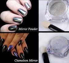 2Boxes Chameleon Mirror Chrome Glitter Powder Dust Nail Art  Pigment DIY