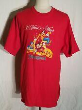 Disney's Magic Kingdom 45th Anniversary Red T-Shirt Men's XL Mickey Mouse F4