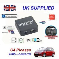 For Citroen C4 Picasso Music Streaming AUX SD CD USB & Card Reader Module RD4