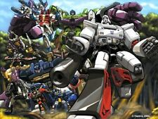 "TRANSFORMERS POSTER: Decpticons G1 Classic Group  27"" x 39.5"" Pat Lee Dreamwave"