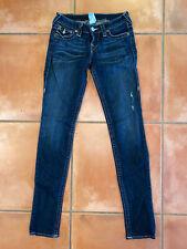 True Religion EUC Women Originals Skinny Jeans Flap Pockets Size 26