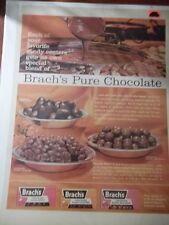 1962 VINTAGE PRINT AD BRACH'S PURE CHOCOLATE CANDY 10X13 MALT BALLS CREME DROPS