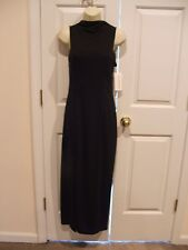 NWT $129 CARABELLA BLACK SIDE SLITS  MAXI DRESS MADE IN USA SIZE SMALL