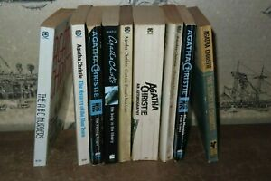 1967-2002 BUNDLE OF 9 AGATHA CHRISTIE BOOKS CRIME HERCULE POIROT MISS MARPLE *