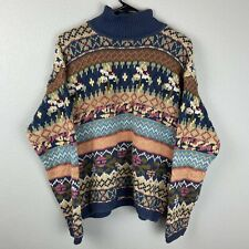 Forenza Sweater Turtle Neck Multicolor Womens Size L Large