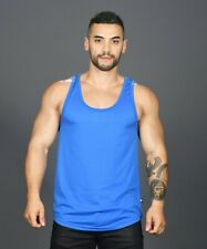 Andrew Christian Men's Party Mesh Tank Top Gay Interest 2706 Sz Xl Electric Blue