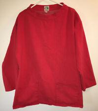 Vtg Kinsale Smocks Fisherman Pullover Jacket Size Xl Red Made in Ireland
