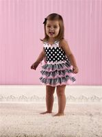 NWT Mud Pie Perfectly Princess Tres Jolie Ruffle Halter Sun Dress 12-18m 2T/3T
