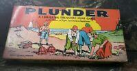Vtg 1939 Milton Bradley Plunder Missing Pieces Has BoardGame Ins, Box Rare
