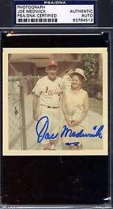 Joe Medwick Psa/dna Signed Original 1/1 Photo Authenticated Autograph