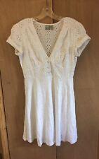 Asos White Broderie Dress - 10 New
