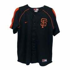 San Francisco Giants Aaron Rowand 33 Nike Team Boys Jersey Black Orange Crew L