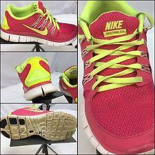 Nike Free 5.0 Sz 7.5 Women Pink Neon Running Shoes EUC YGI M6-78