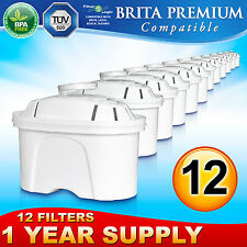 12 x Brita Maxtra Premium Compatible FL402 Replacement Water Filter Cartridge