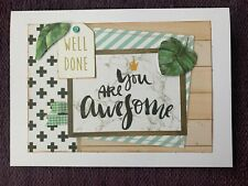 Well Done, You Are Awesome! Blank Card