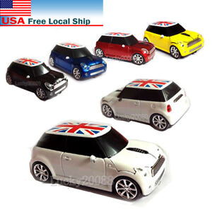 Mini Cooper car 2.4Ghz Wireless Mouse Optical PC Laptop MAC  Mice + USB Receiver