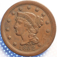 """1852 """"BRAIDED HAIR"""" LARGE CENT,  ANOTHER BETTER CLASSIC OLD COIN!"""