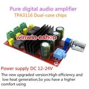 DC12V-24V 100W+100W TPA3116 D2 Dual Channel Mini Digital Audio Amplifier Board
