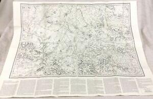 1870 Large Antique Map of Cambridge Ely Chippenham 1980 Reproduction