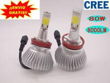 2x 800W 8000LM  CREE LED Faros Coche Bombilla Lampara Kit H4 H7 H11 Blanco 6000K