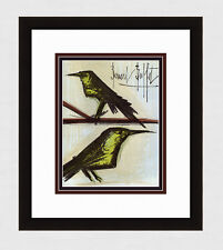 "Original Bernard BUFFET SIGNED 1967 Color Lithograph ""The Love Birds"" FRAMED COA"
