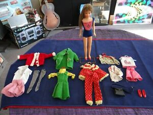 Vintage 1963 Brunette Skipper Doll Bend Bendable Legs Original Swimsuit +Outfits