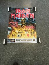 Iron Maiden  - Original Concert Poster From Germany 1990