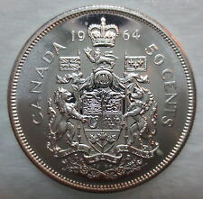 1964 CANADA 50 CENTS PROOF-LIKE SILVER HALF DOLLAR COIN