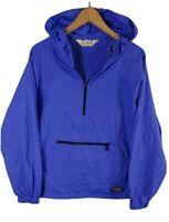 Vintage LL Bean Mens Windbreaker Jacket Size L Large Overhead Hooded Purple