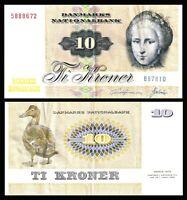 Denmark Banknote 10 Kroner 1972