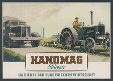 or. Farbreklame Jano Seitz HANOMAG Traktor Pflug Ackerbau Lkw Auto Hannover 1944