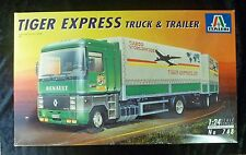 Italeri 748 Renault Tiger Express Truck & Trailer Model Truck Kit 1/24 Scale