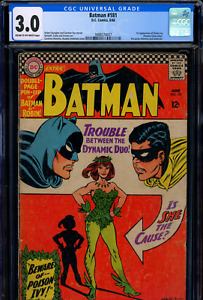 CGC 3 Batman #181 1st appearance of Poison Ivy (Pamela Isley) Silver Age Key