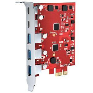 PCIe 3.0 x1 USB Karte mit 3 USB-A Ports und 2 USB-C Ports, 8 Gbit/s
